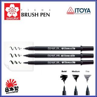 Bút đầu cọ Sakura Pigma Brush màu Black (3 loại) thumbnail