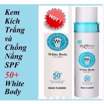 Combo 5 Kem kích trắng và chống nắng SPF 50+ White Body Hàn Quốc - 3502303 , 829986711 , 322_829986711 , 212000 , Combo-5-Kem-kich-trang-va-chong-nang-SPF-50-White-Body-Han-Quoc-322_829986711 , shopee.vn , Combo 5 Kem kích trắng và chống nắng SPF 50+ White Body Hàn Quốc