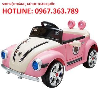 Ô tô xe điện đồ chơi vận động cho bé gái HELLO KITTY 12V/9A tự lái và remote