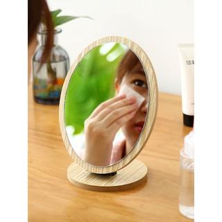 Gương Để Bàn, Gương Trang Điểm Bằng Gỗ  Để Bàn Phong Cách Hàn Quốc SIXTEEN.