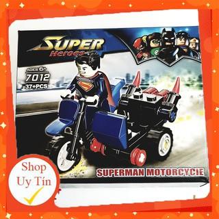 [ĐỒ CHƠI LEGO GIÁ RẺ]💥 [ ẢNH THẬT ] 💥 Đồ chơi lego xếp hình minifigure siêu anh hùng ⚡⚡ Bộ Lego xe máy chiến đấu 7012