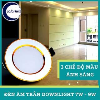 Đèn Âm Trần Downlight 3 Chế Độ 3 Màu Ánh Sáng COLORLUX 7W 9W #amtran