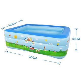 Bể bơi 1m8, 3 tầng, 2 lớp