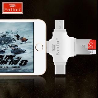 [Có Clip] Đầu Đọc Thẻ Cho iPhone, Samsung, Oppo… 4in1 Chính Hãng Earldom