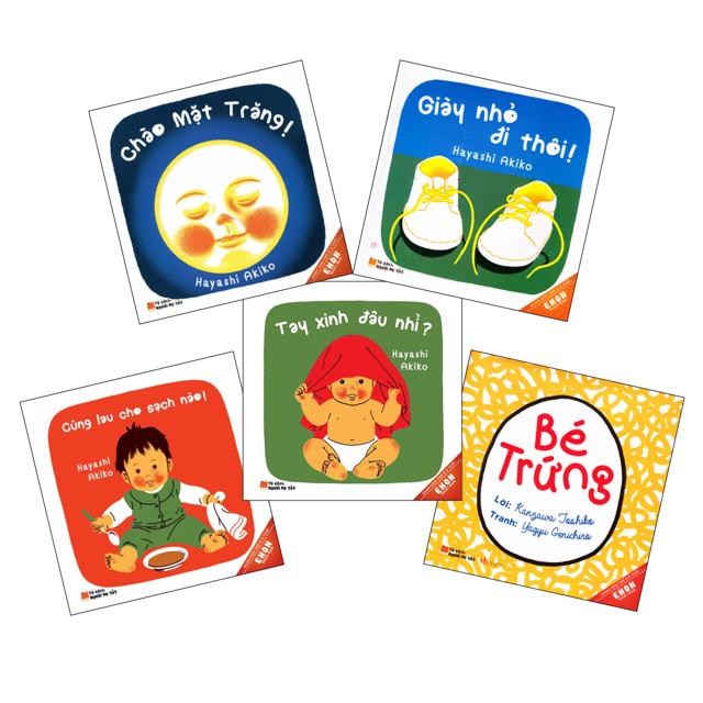 Sách - Combo 5 cuốn Ehon Nhật Bản Dành Cho Trẻ Từ 0 - 3 Tuổi