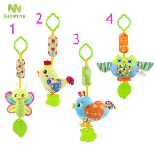 ♥♣♥ Infant Wind Chimes Plush Toys Hanging Newborn Crib Car Lathe Butterfly/Bird/Chicks/Owl Animal Baby Bed Rattles Bell Toy