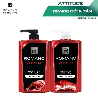 """Combo Dầu gội và Sữa tắm cao cấp Romano Attitude 650g/chai giá chỉ còn <strong class=""""price"""">18.500.000.000đ</strong>"""