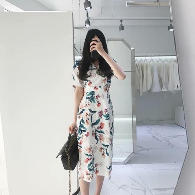 Váy hoa dáng dài siêu chảnh