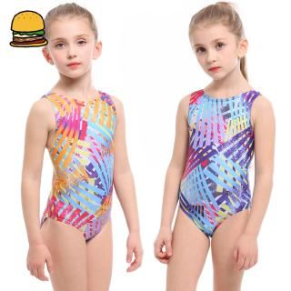 Children Kids Girls Stylish Lovely Printing One-piece Swimsuit