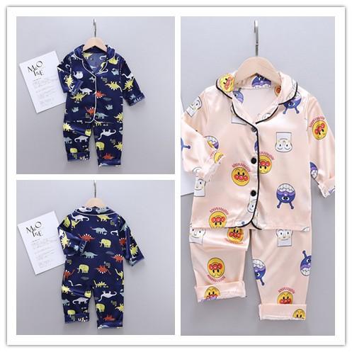 Bộ Đồ Ngủ Pijama Dài Tay In Hình Khủng Long Cho Bé - 2 Cái