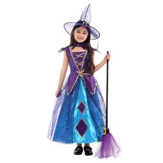 Trang Phục Hóa Trang Halloween Nhân Vật Phù Thủy Cho Bé Gái