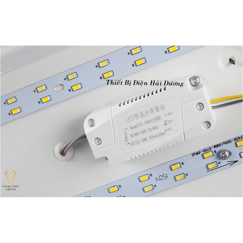 Đèn Ốp Trần Thân Gỗ Cao Cấp DGT-Y380 - 2 Lớp, 3 Lớp Hình Vuông - Đường Kính 48cm - Energy Green Lighting-Bảo Hành 1 Năm