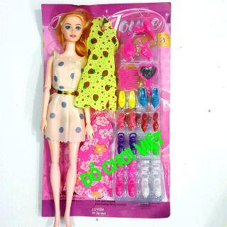Bộ đồ chơi búp bê khớp gương lược váy