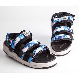 Giày Sandal 2 Quai Ngang Vento 1001 Camo Xanh Dương