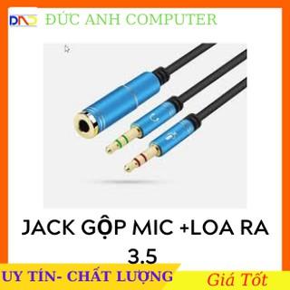 Jack Gộp Audio Và Micro thành Jack 3.5 - gộp audio và mic 3.5 ra tai nghe (Loại đẹp)