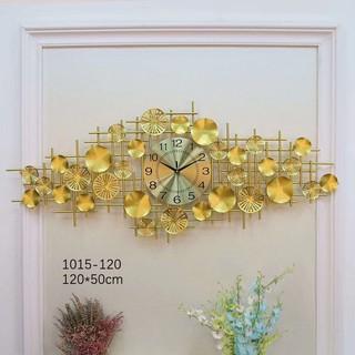 Đồng Hồ Treo Tường Lá Sen Vàng