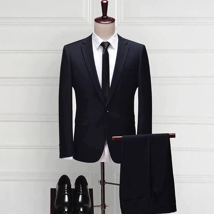 Bộ vest nam màu đen cao cấp