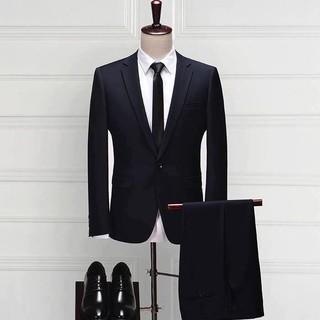 Bộ vest nam màu đen cao cấp V010