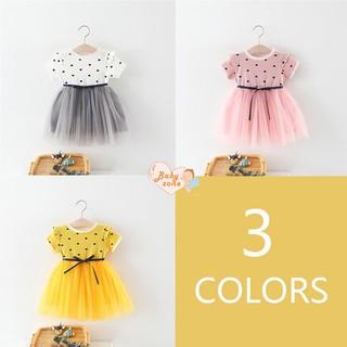 Children Girls Fake Two Piece Bottoming Short Sleeved Sweet Dress