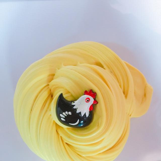 """""""Tổ ấm của gà""""-slime butter làm bằng đất sét Nhật"""