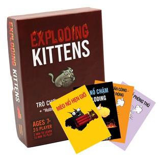 Combo mèo nổ Exploding Kittens + 4 Bản Mở Rộng (Phiên Bản Red Limited)