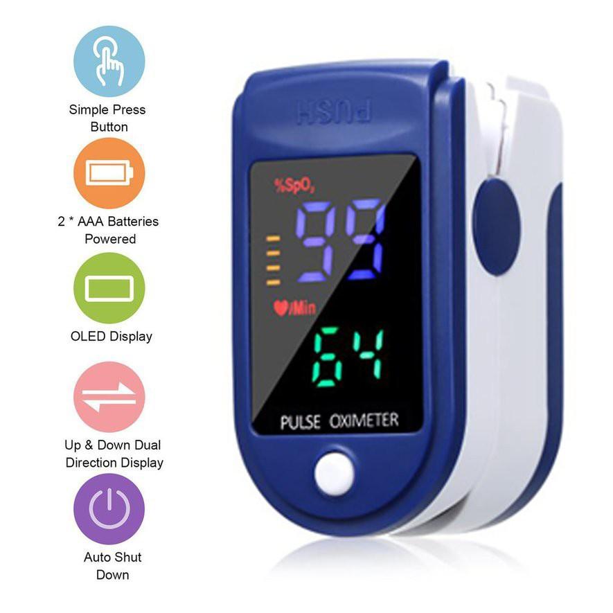 Oximeter/Màn hình TFT bốn màu ngón tay kẹp đo oxy theo dõi nhịp tim SpO2 / nhịp tim