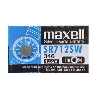 Pin đồng hồ SR712SW SR712 712 346 Maxell Nhật Chính Hãng Vỉ 1 Viên