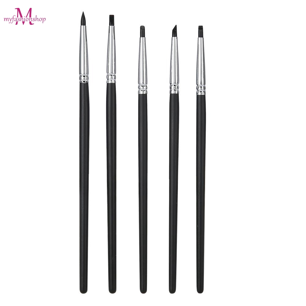 5pcs Dental Porcelain Teeth Silicone Brush Teeth Stain Remover Nail Art Brush Pen Tool