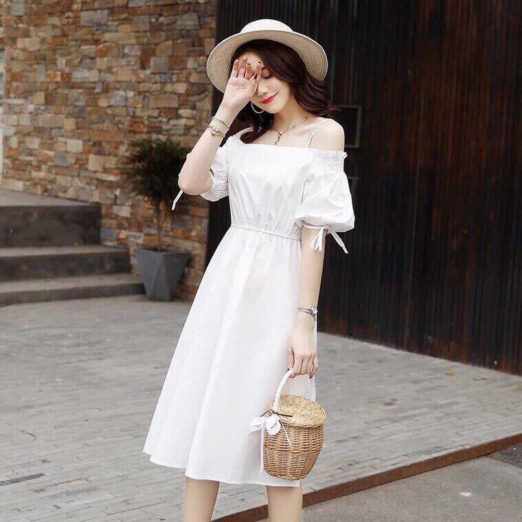 Đầm bẹt vai dây