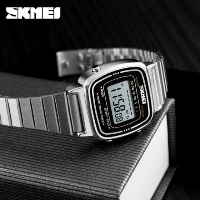Đồng Hồ Nữ Điện Tử SKMEI 1252 Bản Nhỏ Chính Hãng(Có Clip+Ảnh thật)