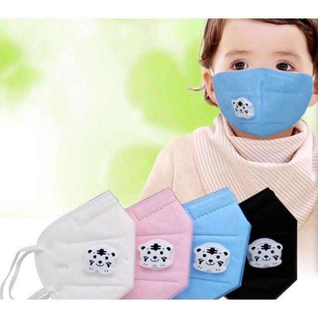 Khẩu trang 3 lớp hoạt tính có van thở cho bé t7