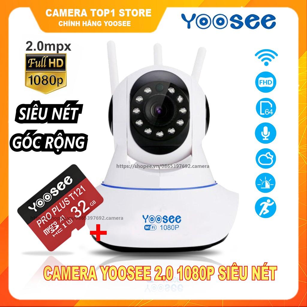 [Giá Siêu Rẻ ]Camera Yoosee Xoay 360 - Full HD 1080P, Có Kèm Thẻ Nhớ 32GB