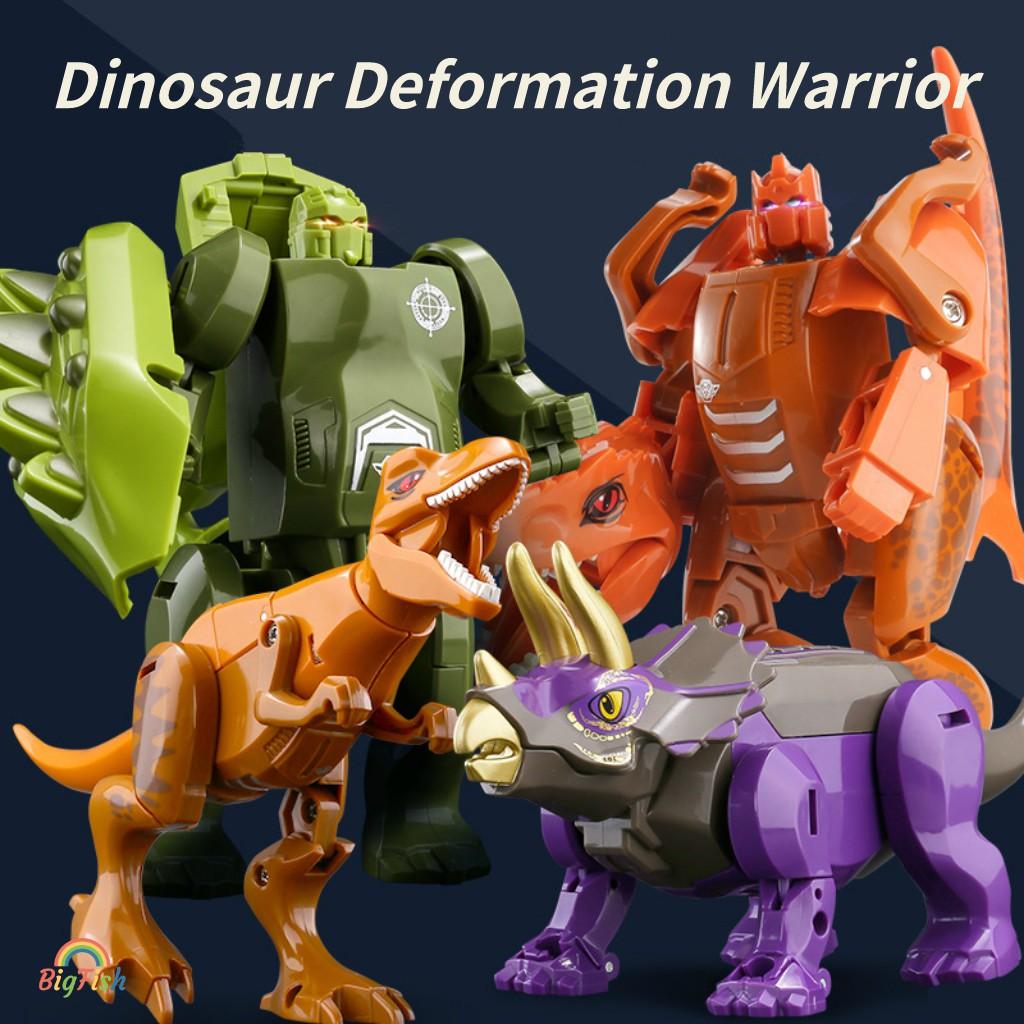 Deformed Dinosaur Robot Transformation Warrior Set Jurassic World Action Figure Dinobot Tyrannosaurus Dragon Kids Toys Children Gift