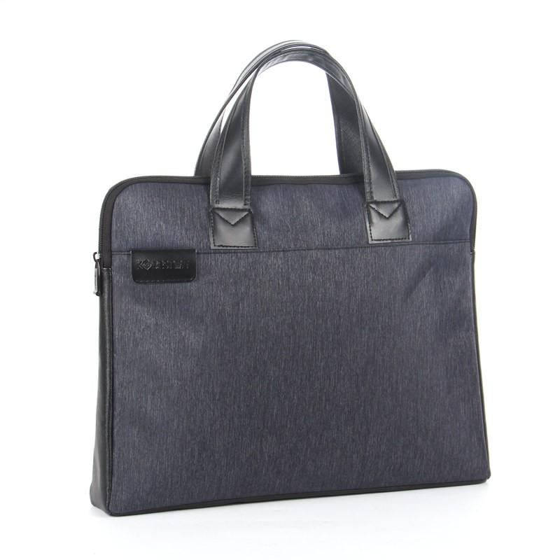 กระเป๋าเอกสารแบบพกพาถุงซิป A4 กระเป๋าผ้าใบกระเป๋าคอมพิวเตอร์กระเป๋าเอกสารชายและห