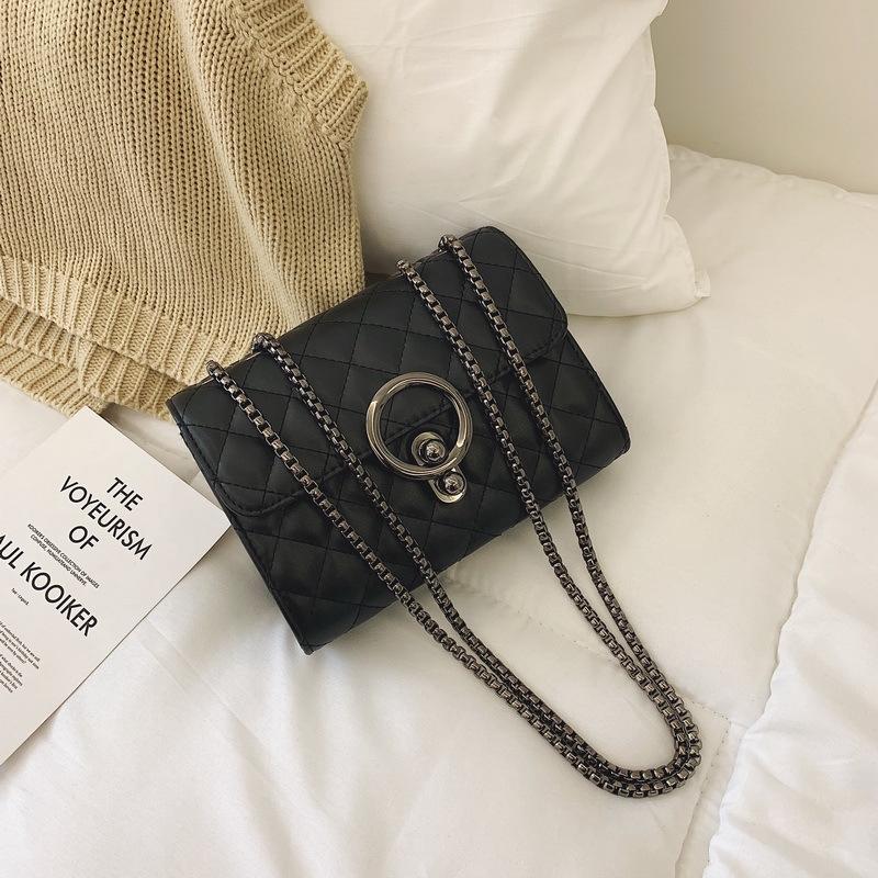 [HÀNG CAO CẤP]Túi xách nữ đeo chéo trần trám khóa tròn cách điệu_MA150