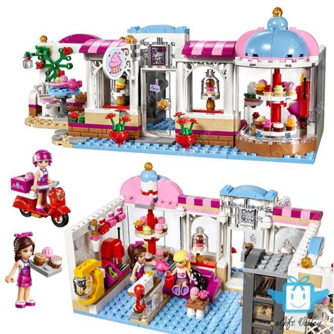 Bộ Lego xếp hình Cửa hàng bánh và kem - 444 chi tiết