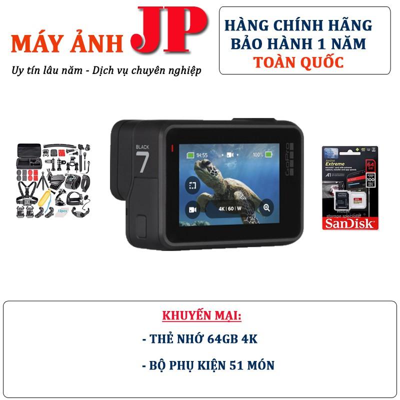 Combo GoPro Hero 7 Black + Thẻ nhớ 64Gb quay 4K + Bộ Full 51 loại phụ kiện