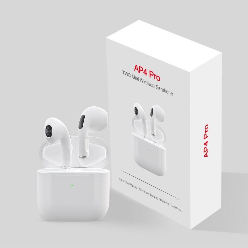 Tai Nghe Bluetooth Airpod Pro 4 Cảm Ứng 5.0 Âm Thanh Cực Hay Đàm Thoại Sắc Nét | Pro4 Phiên Bản Nâng Cấp - lanashop77