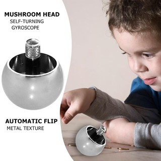 1pc Metal Flip Over Top Gyro Spinning Top Toys Kids Educational Toy Gifts Automatic Flip Metal Toy