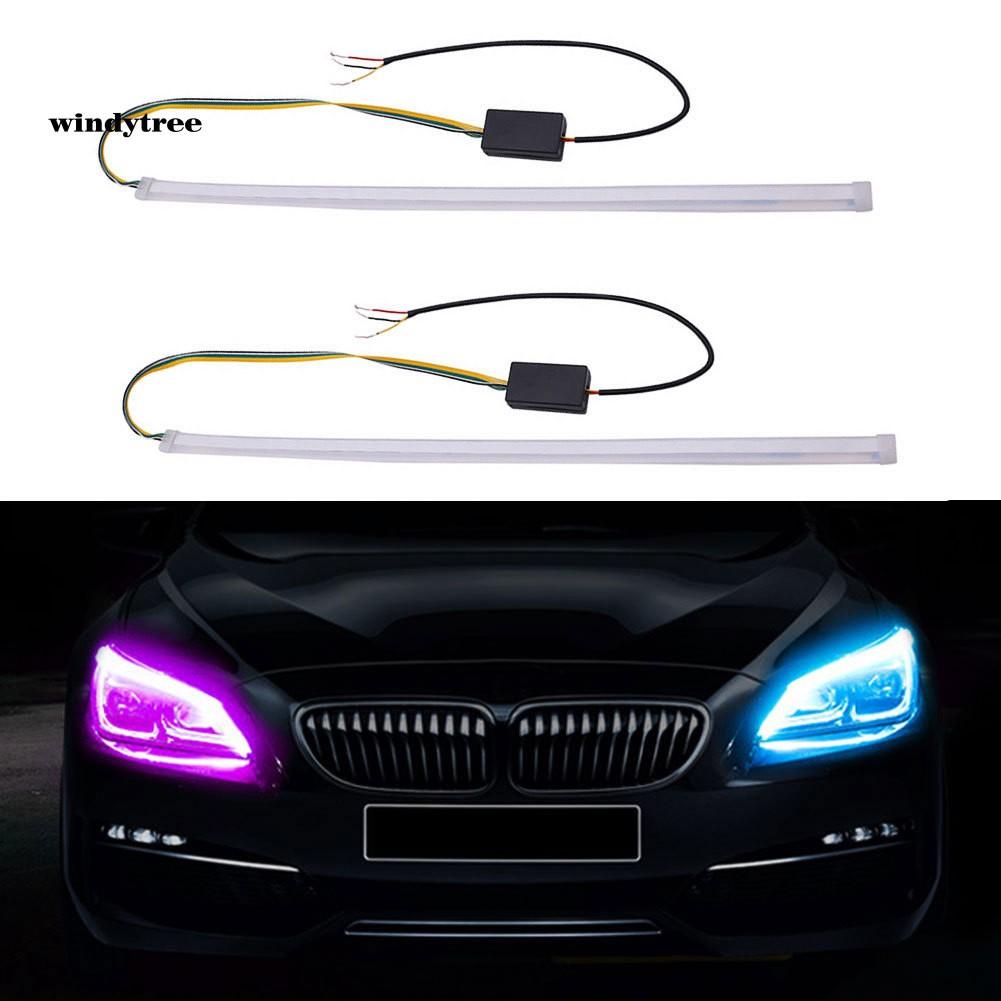 Dải đèn LED dây trang trí DRL 30/45/60cm 2 màu xinh xắn đẹp mắt