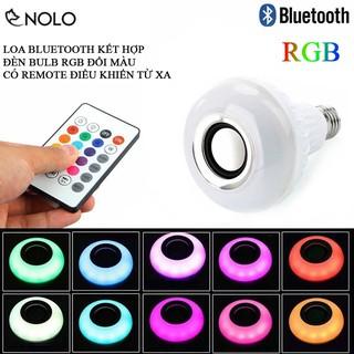 Loa Bluetooth Kết Hợp Đèn Bulb LO3W Chui E27 Led RGB 3D Đổi Màu Có Remote Điều Khiển Nhiều Chức Năng Công Suất 12W