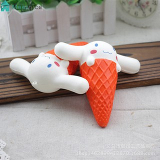 11CM Kawaii Squishy Big Ear Dog Ice Cream Squeeze Slow Rising Charm Sress Relief N[AH96]