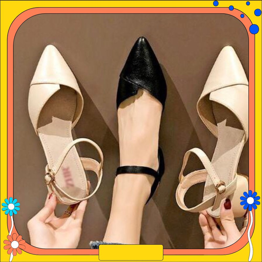 Giày búp bê quai sau cao 3 cm siêu nữ tính mã MT_P1