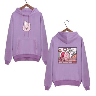 BTS BT21 Korea Loose Hoodie Sweater