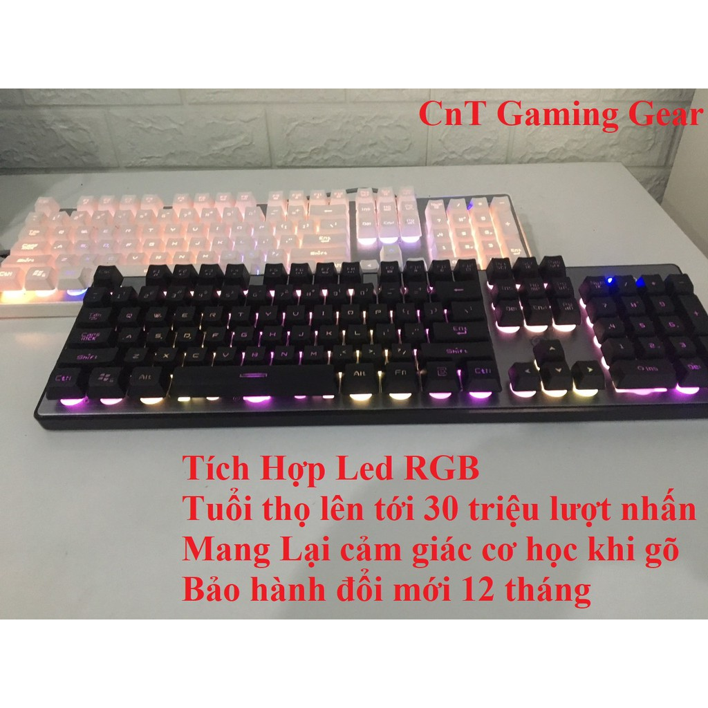 Bàn phím máy tính giả cơ led RGB Q300 Hot 2019 Giá chỉ 160.000₫