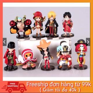 [BAO GIÁ SHOPEE] Mô Hình Nhân One Piece Team Luffy ( Cả 9 Con ) tặng sticker one piece cực chất