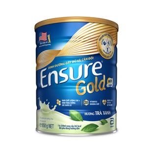 Hình ảnh Sữa bột Ensure Gold Trà xanh 850g tặng Bình thủy tinh-4