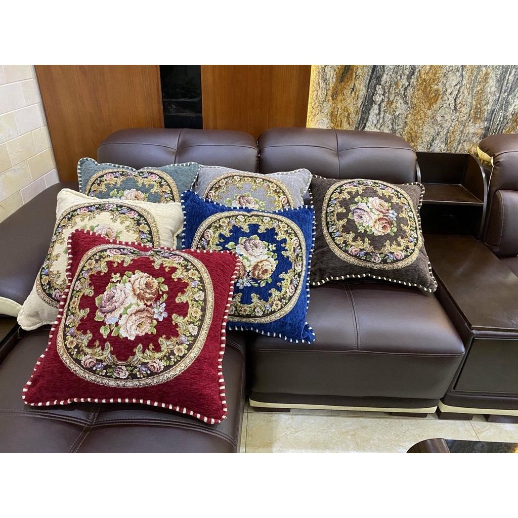 Gối tựa lưng trang trí, gối tựa sofa, Gối tựa ghế tây âu 45x45 ( có ruột )