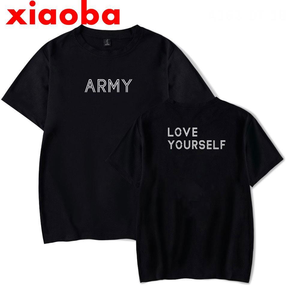 Men's tee Cotton T-shirt Short Sleeve Tops Star BTS LOVE YOURSELF Summer Loose Men Short Sleeve T-Shirt Spot