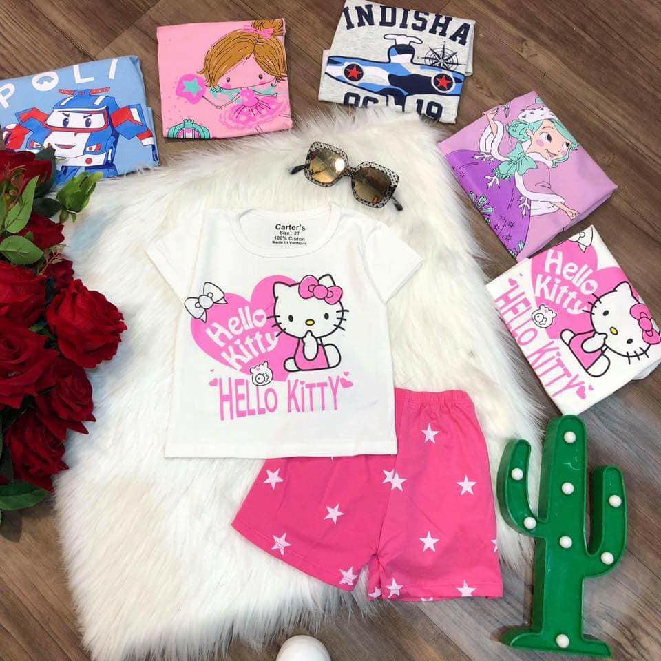 Bộ quần áo cotton cho bé trai/bé gái - 2741127 , 965885304 , 322_965885304 , 65000 , Bo-quan-ao-cotton-cho-be-trai-be-gai-322_965885304 , shopee.vn , Bộ quần áo cotton cho bé trai/bé gái